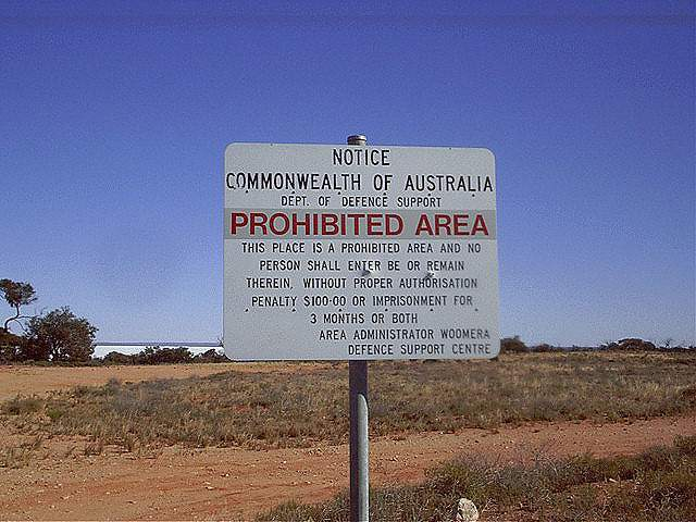 secret places woomera test range australia