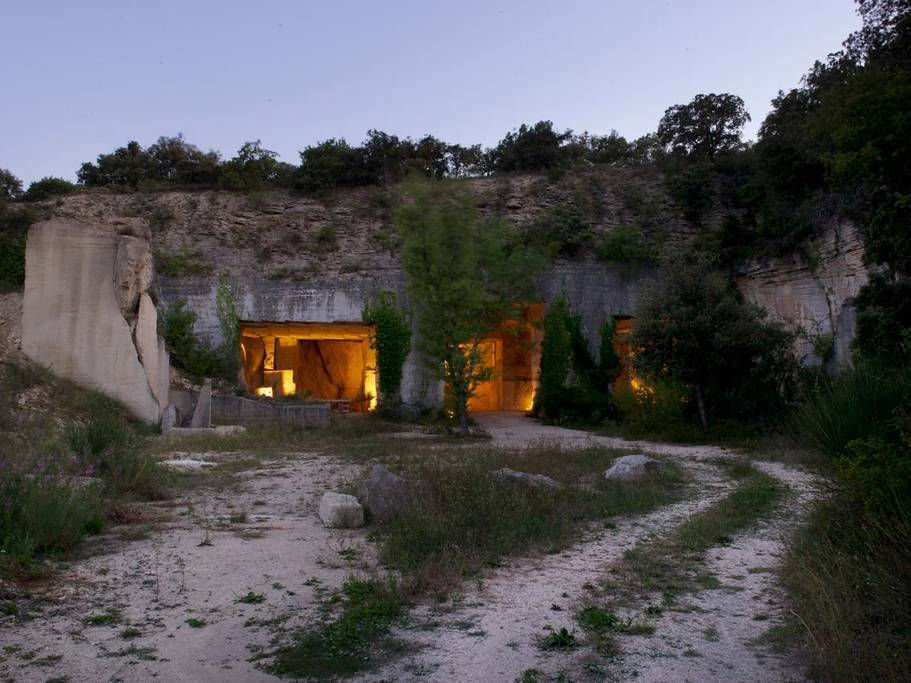 the cave is in a stone quarry that was built by the romans