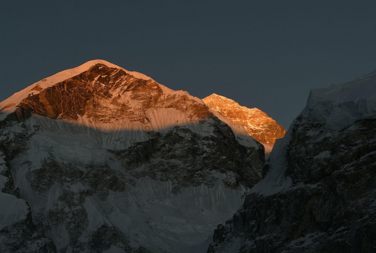 Everest is seen at dusk