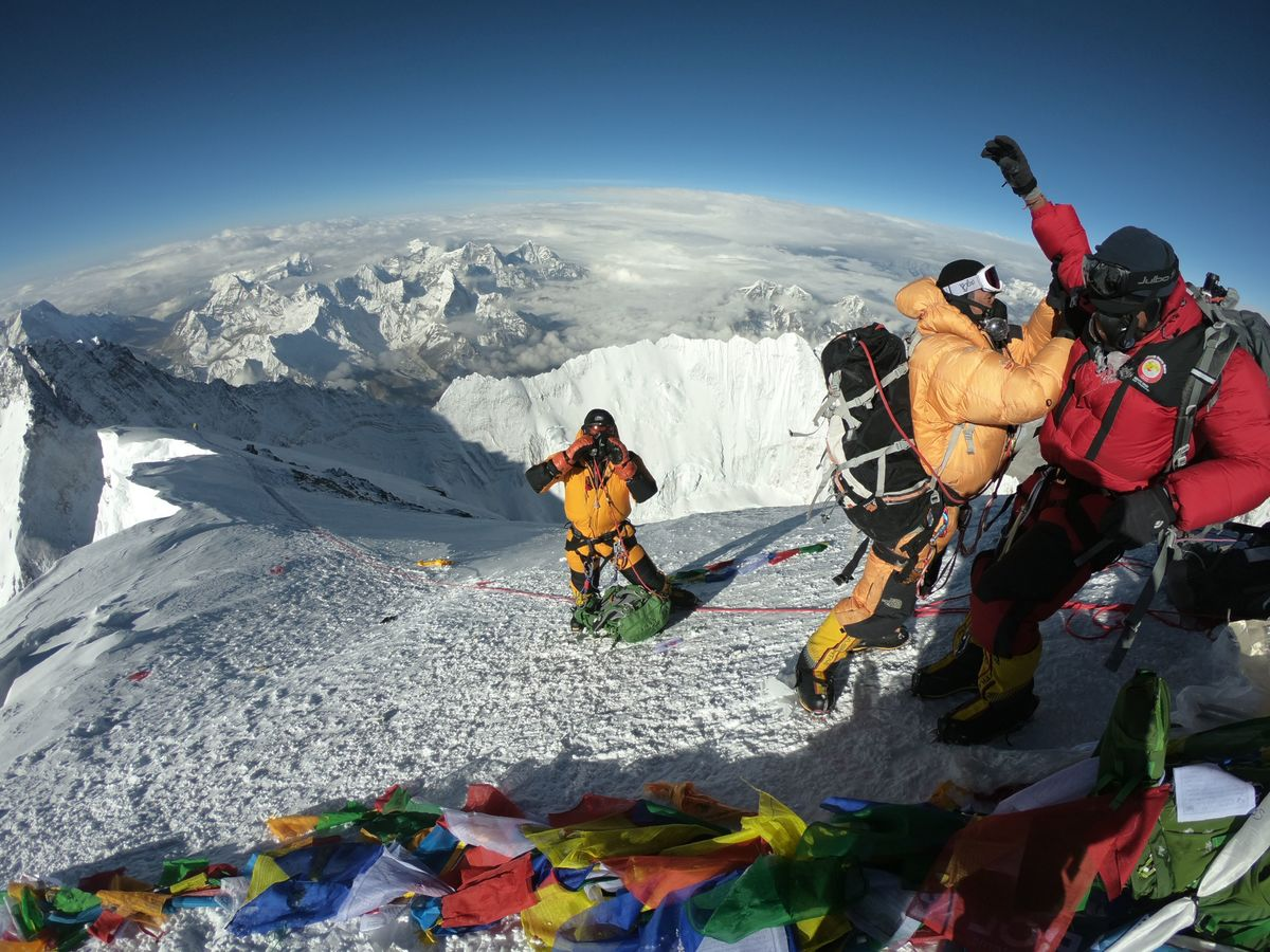 Mountaineers prepare to climb Mt. Everest