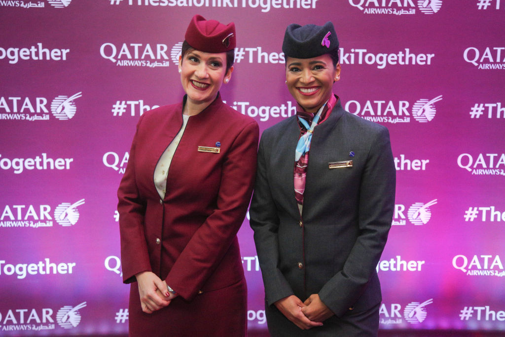 Qatar Airways event for the inauguration of the flights QR205/206 connecting the capital of Qatar Doha to Greece's second largest city Thessaloniki.
