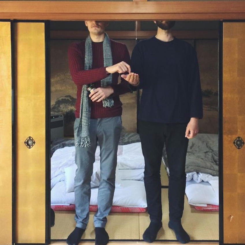 two guys too tall for bedroom