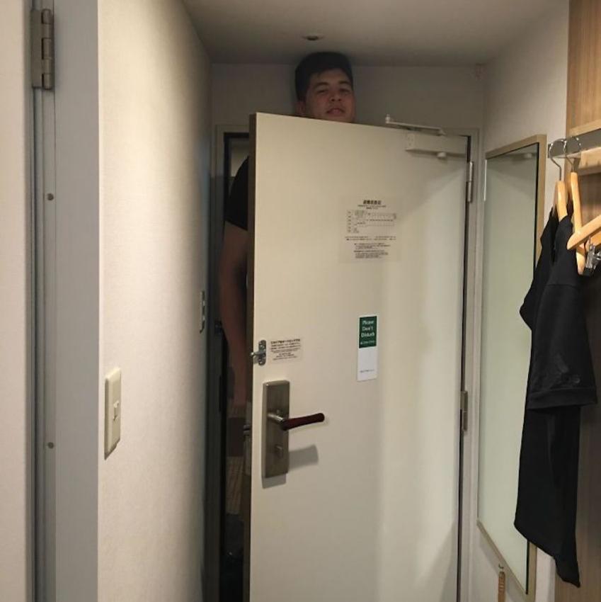 taller than door in hotel in japan