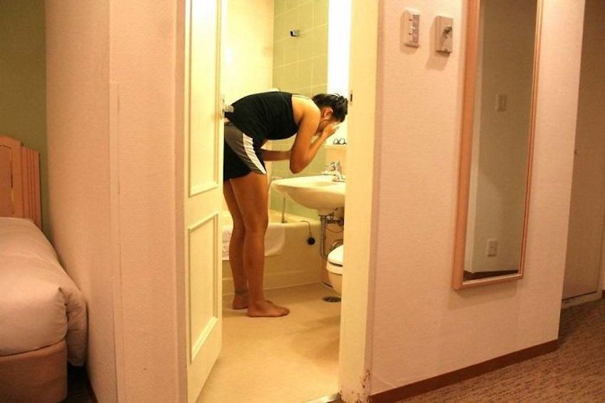 too tall bathroom, sink is too low
