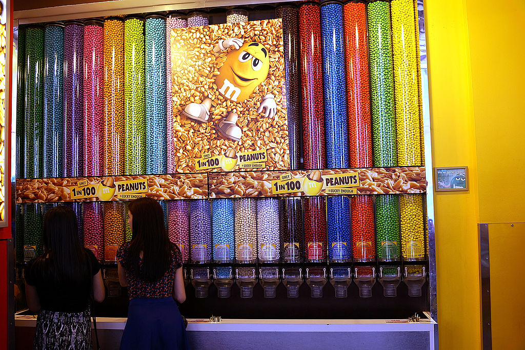 a wall of candy