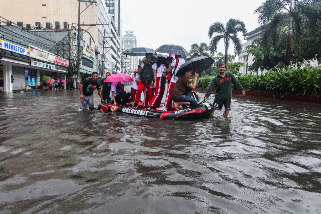 Manila, Philippines, Is Sinking Four Inches A Year