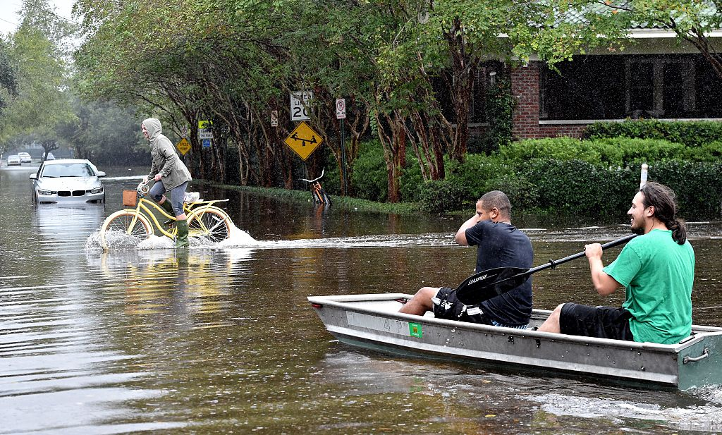 canoeing in a flood