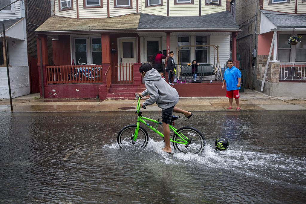 flooded streets in atlantic city