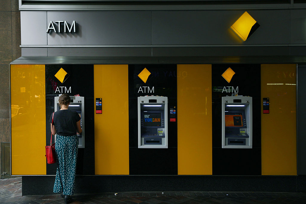Women at ATM Machine
