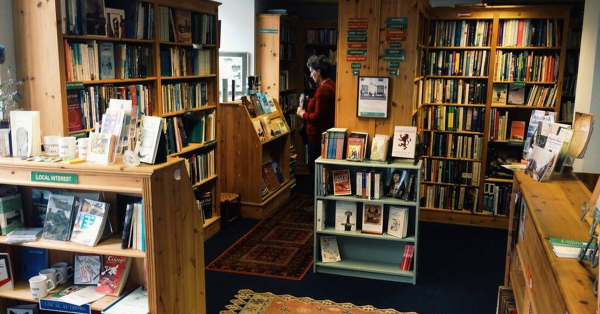 the inside of a bookstore
