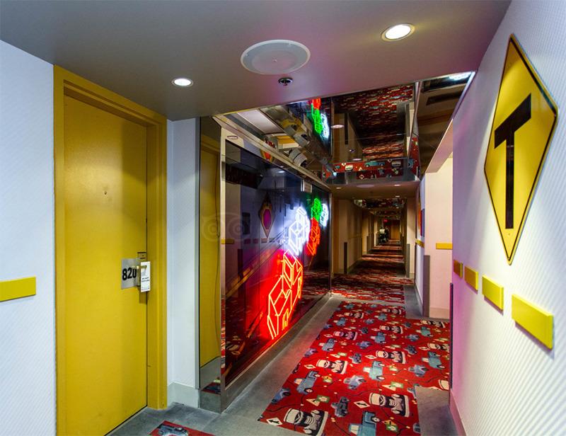 A car inspired hallway