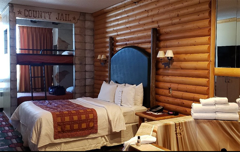 A western themed hotel room