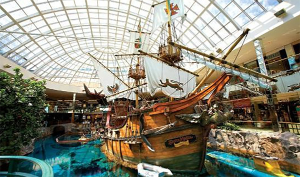 A pirate ship inside West Edmonton Mall