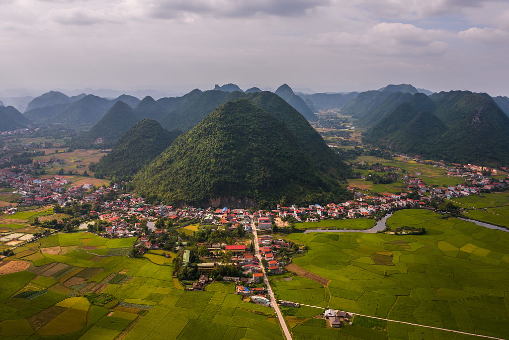 Marvel At The Green Fields In Bac Son Valley, Vietnam