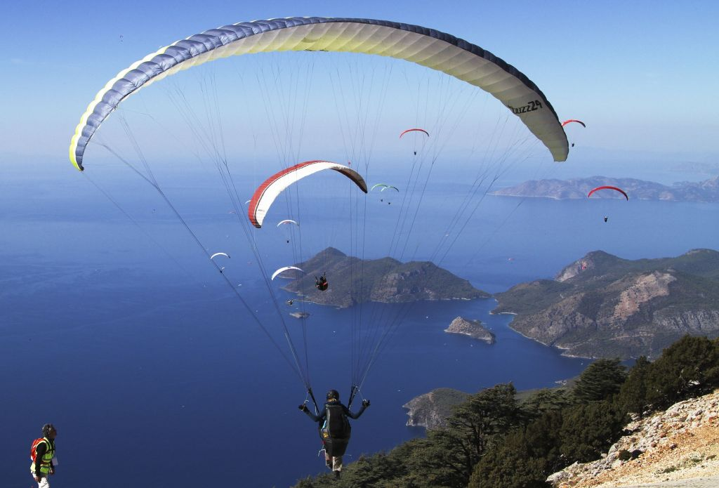 Paragliding Over The Blue Lagoon Of Oludeniz, Turkey
