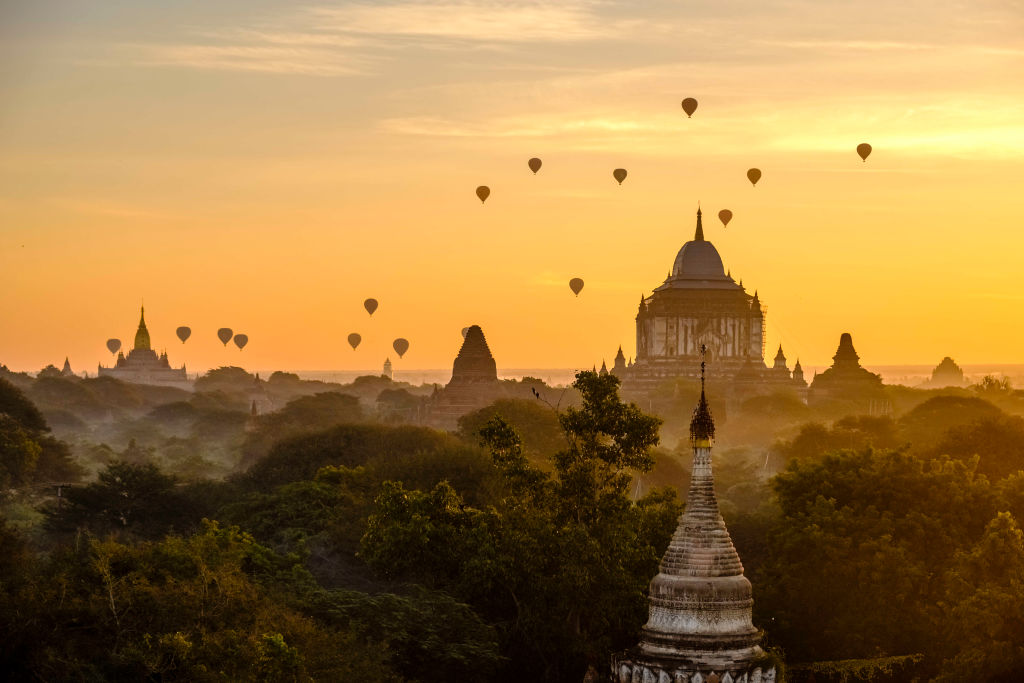 Hot Air Balloon Ride Over The Temples Of Began, Myanmar