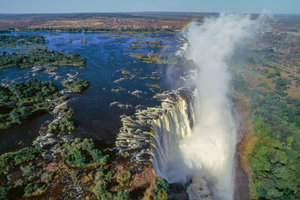 Flight Over Victoria Falls, Zambia/Zimbabwe