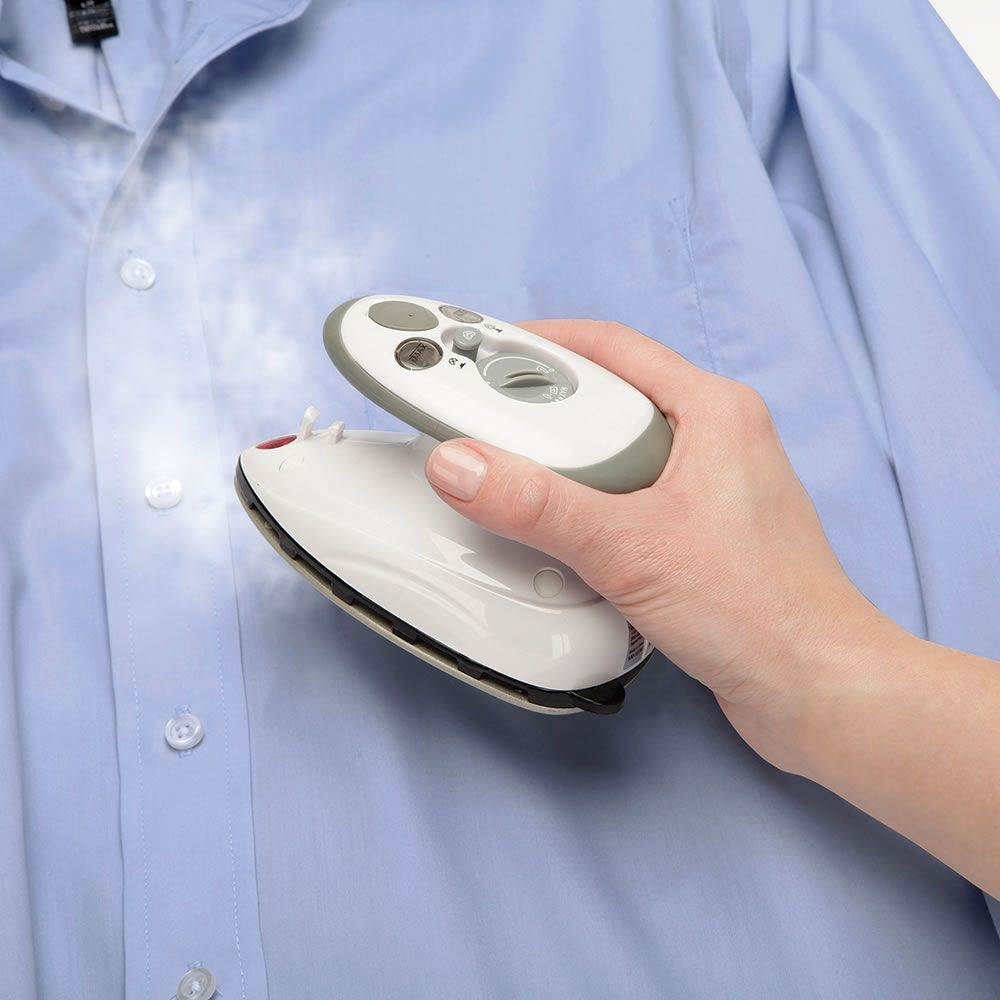 A Tiny Steam Iron For When You're In A Hurry