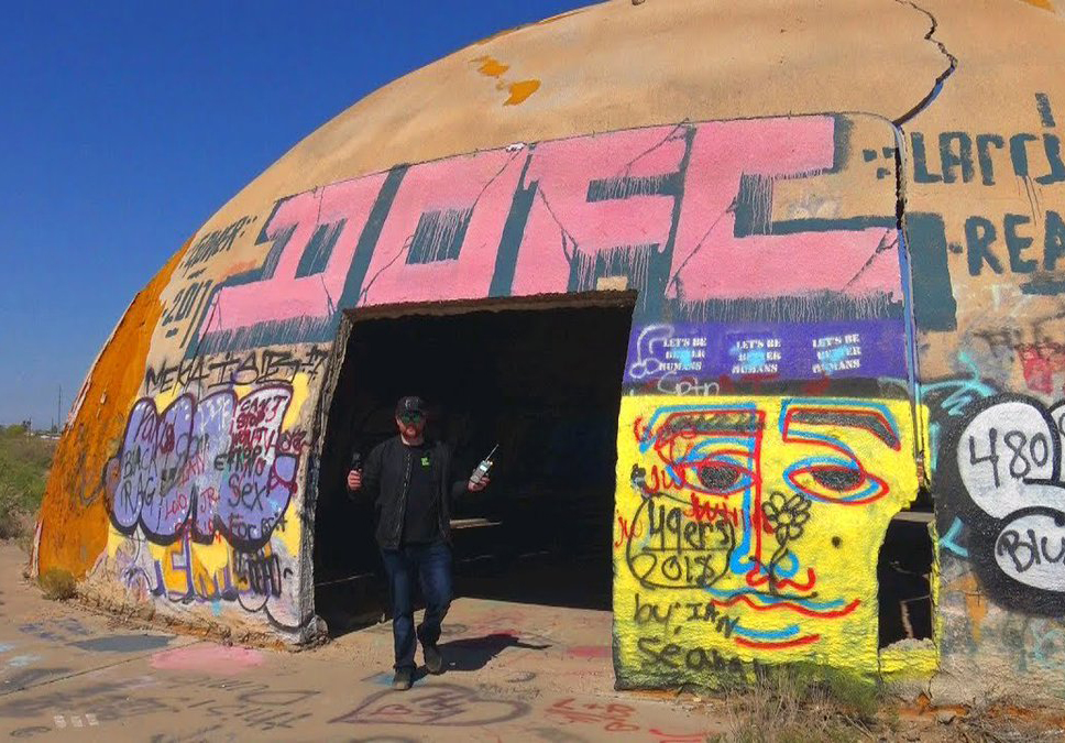 John Razimus Mysterialis goes into a Casa Grande dome to ghost hunt.