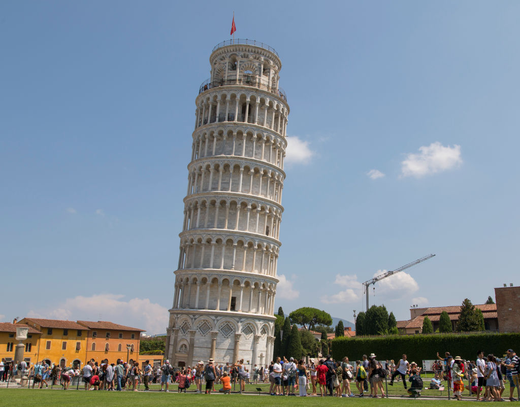 The Leaning Tower Of Pisa In Italy Is Best Viewed From Afar