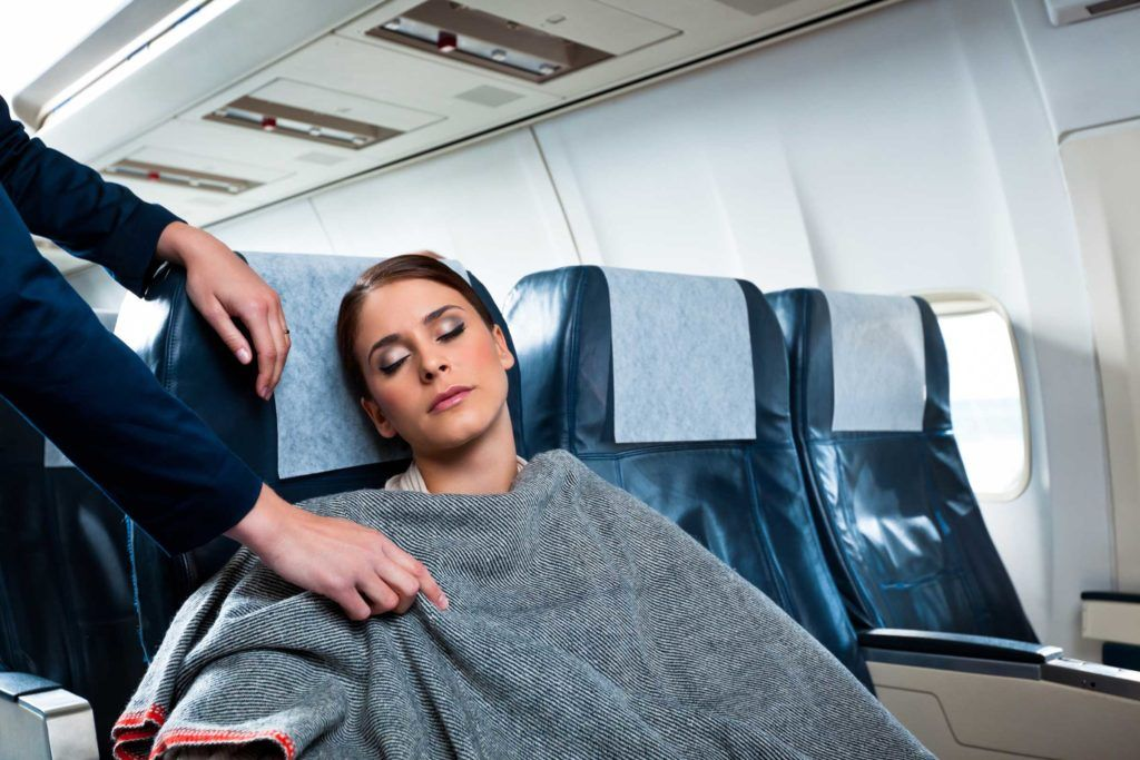 blanket on flight