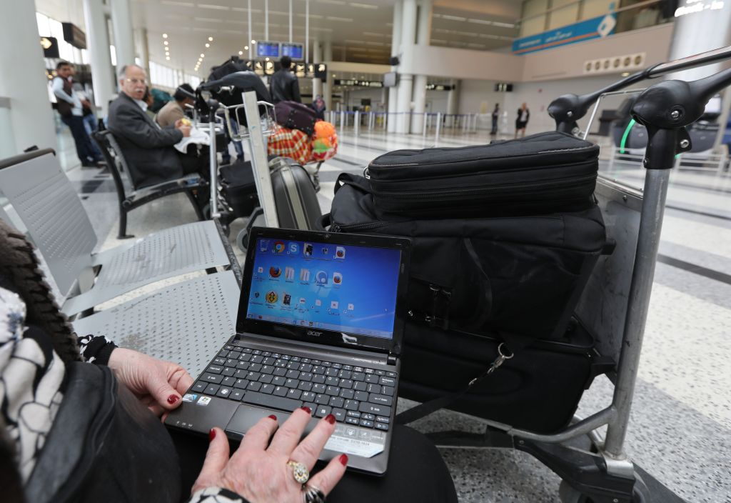 laptop at airport