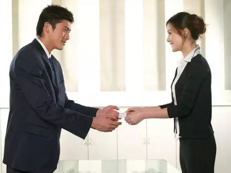 Use Two Hands To Accept  Business Cards