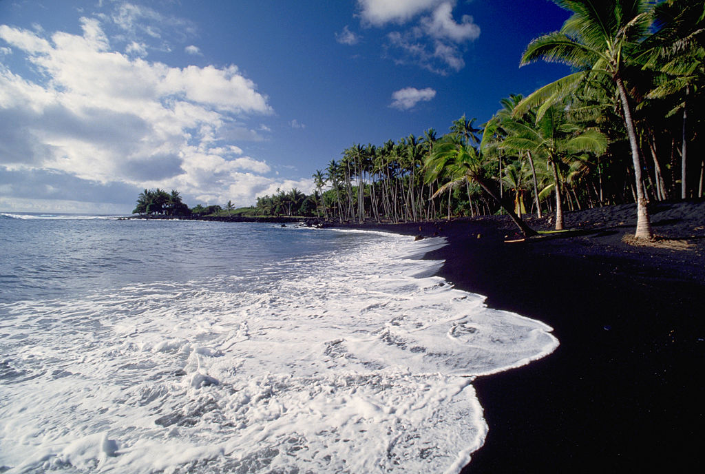 beautiful black sand