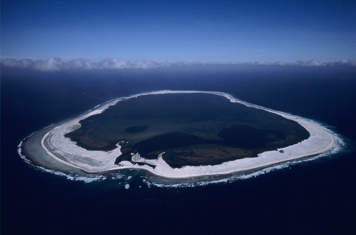Overview of the Clipperton Island is seen in the eastern Pacific.