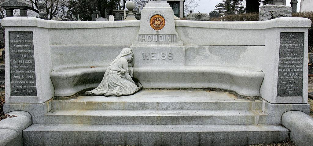 Magician Harry Houdini's gravesite