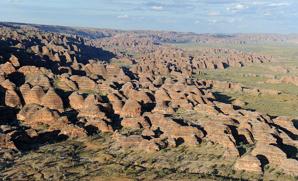 aerial view of the Bungle Bungles rock formations