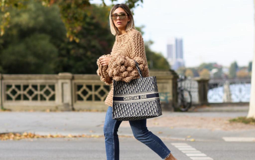 woman with christian dior bag
