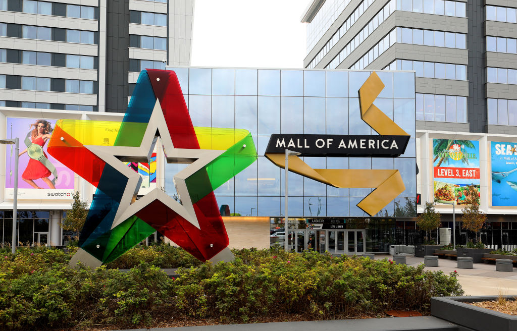 the outside view of the mall of america