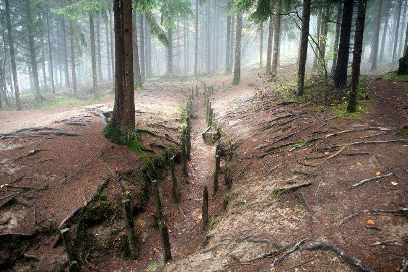 a trench in France's Red Zone