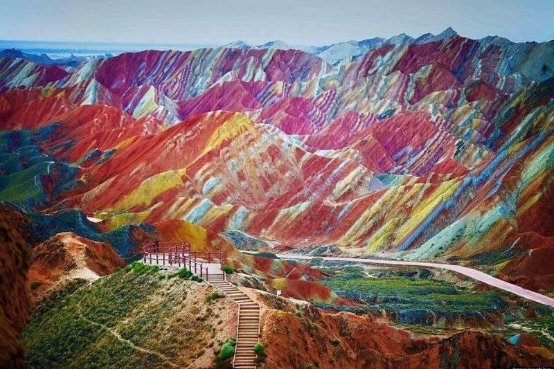 the zhangye danxia landform in China