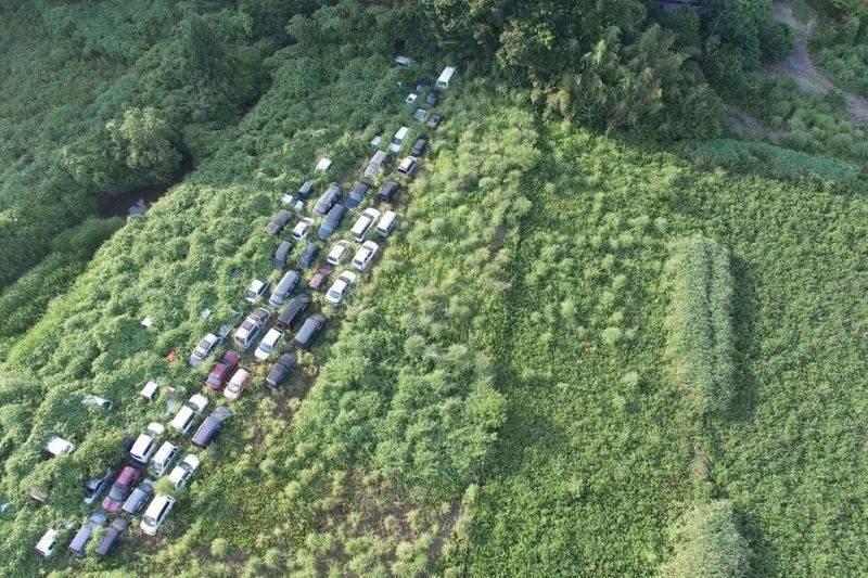 cars left at Fukushima