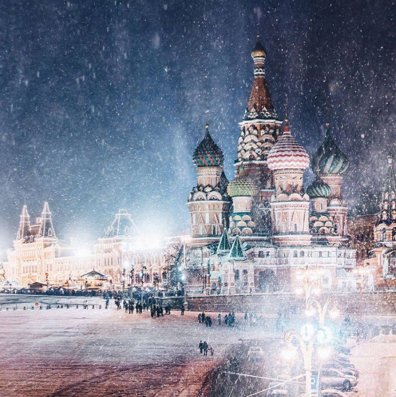 moscow in the snow