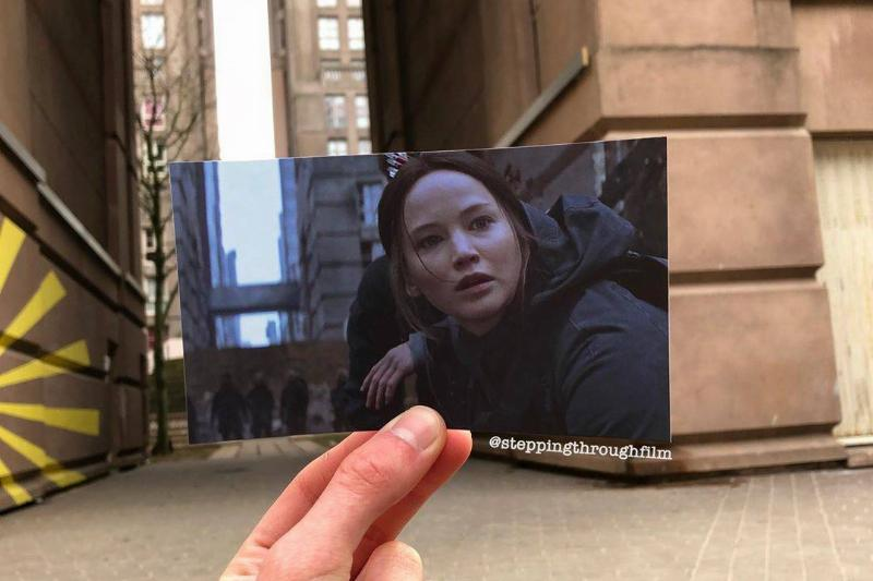 still of katniss in the hunger games at the real life locations