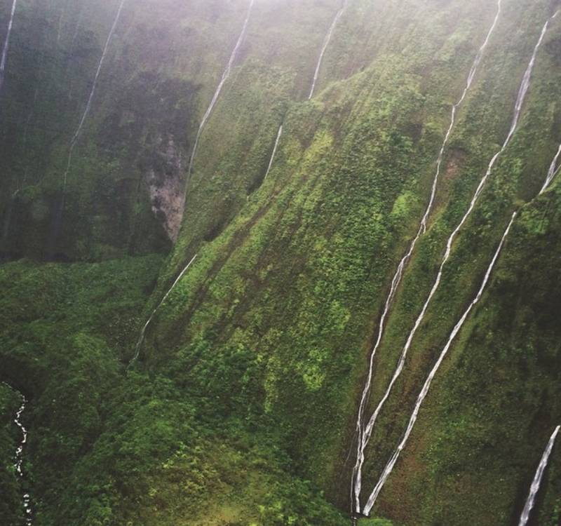 water down a mountain