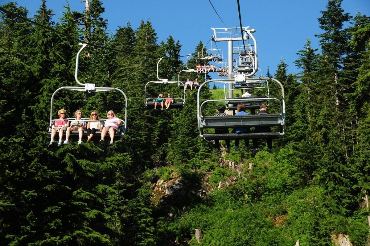 cable gondola on Grouse Mountain