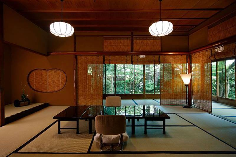 A traditional Japanese room is park of Kyoto Kitcho Arashiyama.