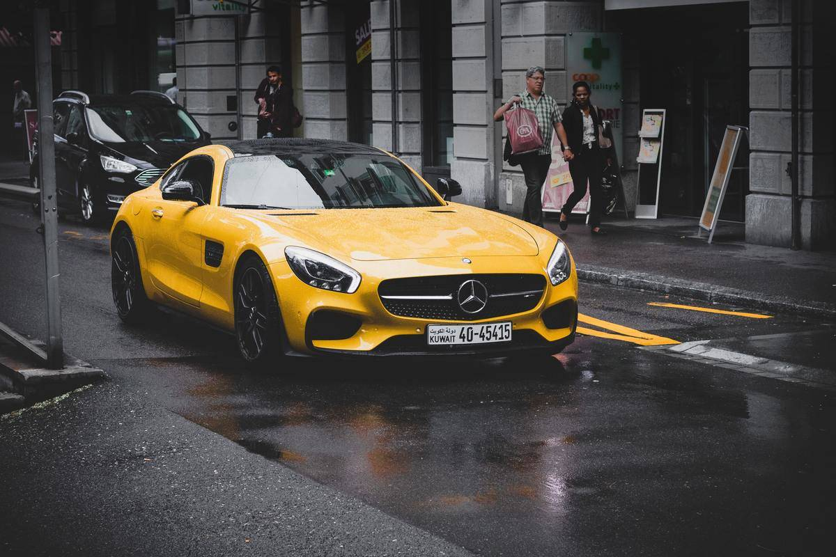 Yellow Mercedes