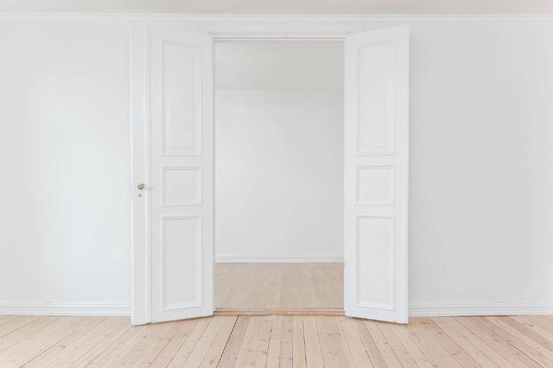 doors open apartment