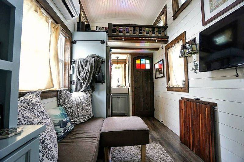 tiffany tiny home interior living area