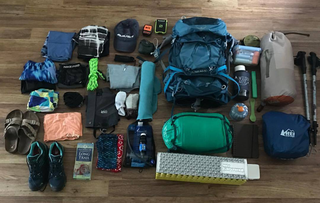 things to pack laid out on floor