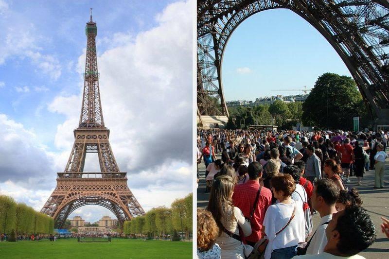 Eiffel Tower France instagram vs reality