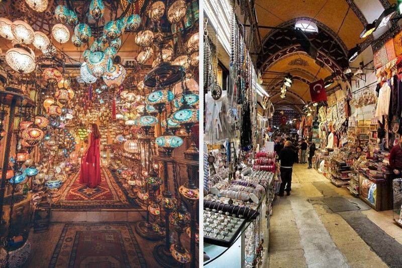Istanbul Grand Bazaar photo comparison