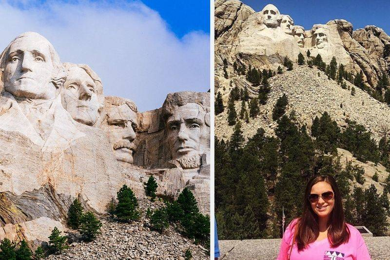 Mount Rushmore in real life
