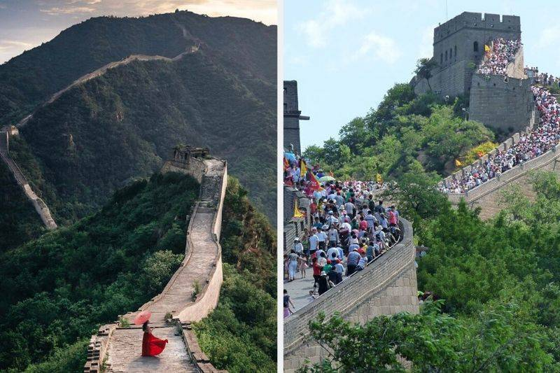 The Great Wall of China instagram vs reality