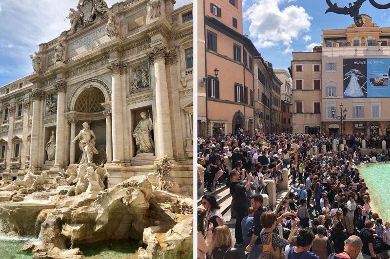 Trevi Fountain Rome instagram vs reality